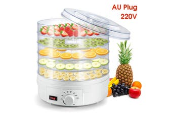 350W 5 Trays Food Dehydrator Machine Professional Electric Multi-Tier Food Preserver for Meat or Beef Fruit Vegetable Dryer(Standard Type AU Plug 220V)