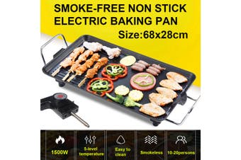 68x28 Large Teppanyaki Grill Table Electric Hot Plate BBQ Griddle Camping 1500W