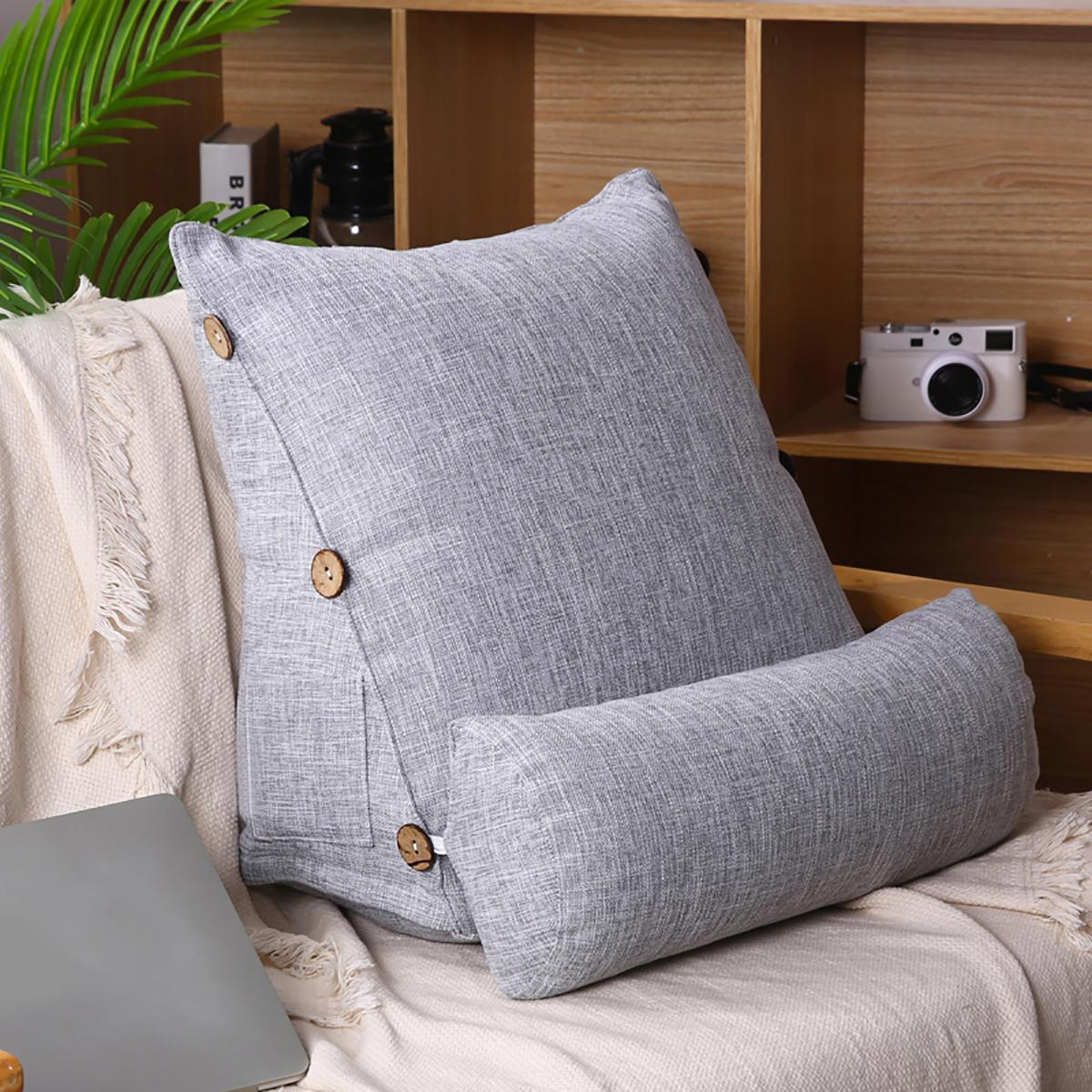18/'/' Triangular Wedge Back Pillow Rest Neck Home Sofa Bed Lumbar Office Rest