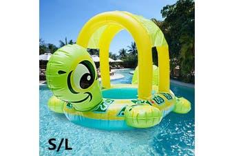 79/62CM S/L Summer PVC Safe Tortoise Shape Kids Baby Inflatable Pool Float Seat Boat Water Swim Ring