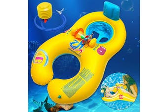 Safe Inflatable Mother Baby Swim Float Raft Kid's Chair Seat Play Ring Pool Bath