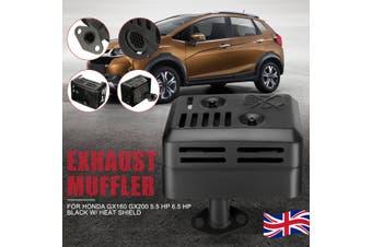 Exhaust Muffler System HEAT SHELD for HONDA GX160 GX200 5.5 HP 6.5 HP Motor
