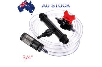 "3/4"" Garden Irrigation Device Venturi Fertilizer Injector Switch Water Tube Kit"