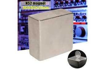 Super Strong Large N52 Neodymium Block Permanent Rare Earth Magnet 50X50X25mm(N52 Magnets)