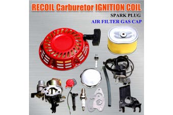 Carburetor Air Filter Ignition Coil Recoil For Honda GX160 GX200 5.5hp Engine