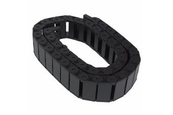 1M 1000mm 40inch Black Long Nylon Cable Drag Chain Wire Carrier R38 15mm x 40mm