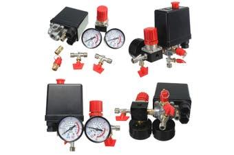 180PSI Air Compressor Pressure Valve Switch Manifold Relief Regulator Gauges 240V 45x75x80mm