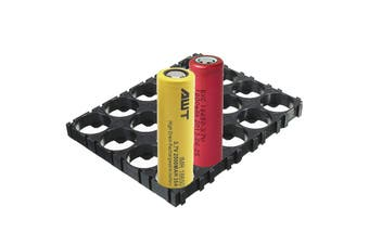 4x5 Cell 18650 Lithium Batteries Battery Spacer ABS Plastic Holder 100x80mm