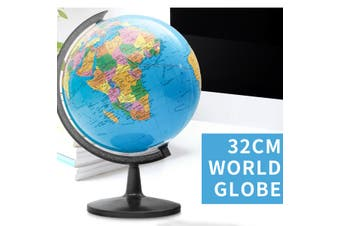 32cm Rotating World Earth Globe Map Geography Education Toy Desktop Decor