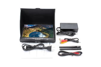 【Free Shipping + Flash Deal】Eachine LCD5802D 5802 5.8G 40CH 7 Inch FPV Monitor with DVR Build-in Battery