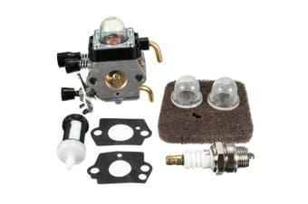 Carburetor Carb Spark Air Filter Gasket Bulb Kit For Stihl Trimmer FS45 FS46 FS46C Zama
