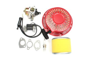1 SET Carburetor Pull Starter Ignition Coil Air Filter Kit For Honda GX340 11HP & GX390 13HP