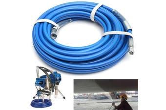 13M 5000PSI 1/4in Airless Paint Spray Hose Gun Pressure Flexible Fiber Tube Extension Sprayer (Weight: 1570g)