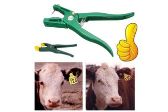 100 Numbers Livestock Pig Goat Sheep Ear Tags ID Lables + Tag Applicator Plier