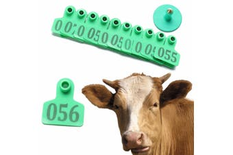 100pcs Farm Animal Labels Cattle Goat Sheep Ear Tag Livestock Number 001 to 100