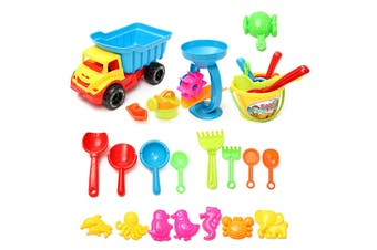 21x Beach Sand Tools Toys Car Set Shovel Outdoor Toys For Over 3 years Old Kids