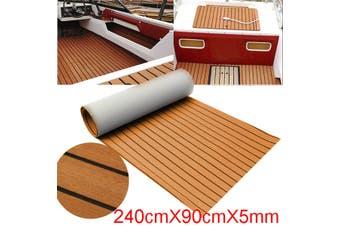 Boat Yacht Synthetic Teak Decking Brown EVA Foam Teak Sheet(240cmX 90cmX0.5cm)