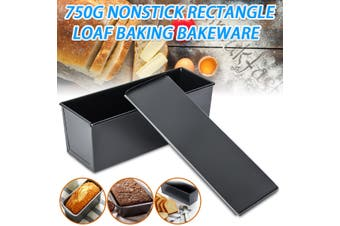 750g Nonstick Rectangle Loaf Pastry Bread Cake Box Tin Kitchen Baking Cookware
