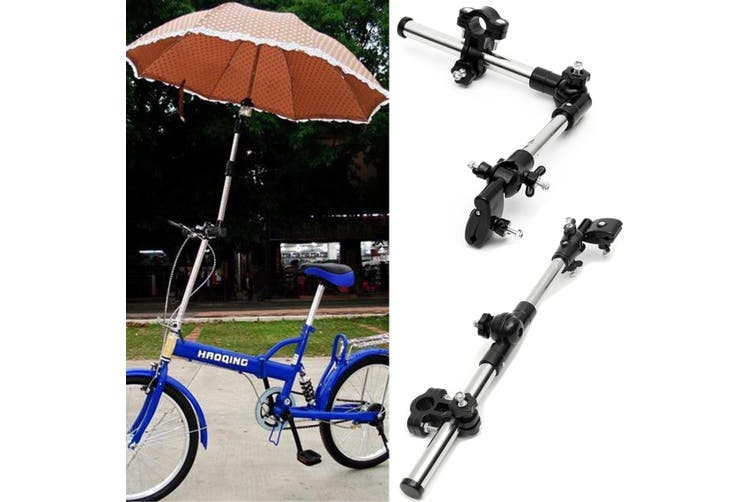 Umbrella Attachment Clamp Supporter Connector Holder Pipe Bar/Wheelchair Scooter