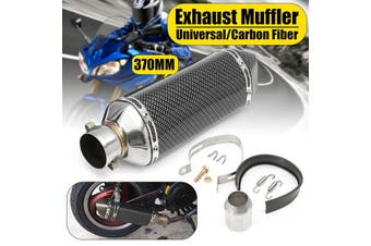 38-51mm Stainless Steel Universal Motorcycle Dirt Bike Street Bike Scooter Quad ATV Adjustable Carbon Fiber Exhaust Muffler Pipe Removable Silencer