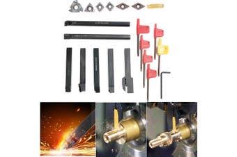21pcs/set 12mm Shank Lathe Turning Tool Holder Boring Bar + DCMT CCMT Carbide Insert + Wrench