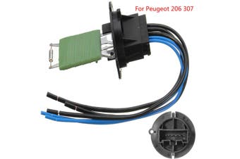 Heater Blower Motor Resistor Connector + Wiring Harness Loom For Peugeot 206 307
