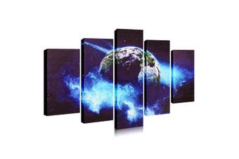 5Pcs Home Wall Mount Large Modern Planet Canvas Picture Print Decor Unframed