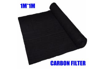 1PCS 1MX1M Air Conditioner Activated Carbon Purifier Pre Filter Fabric Thickness(black)