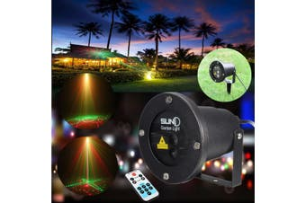 RF Outdoor Waterproof LED Laser Lighting Projector Lamp Lawn Stage Xmas Garden