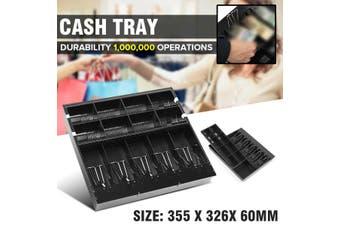Security Safe Petty Cash Tray Drawer 5 Bills 8 Coins Cashier Storage Box Money Register Bank