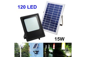15W 120 LED Panel Floodlight Solar Powered Outdoor Garden Lights Spot Night Lamp(Solar Light)