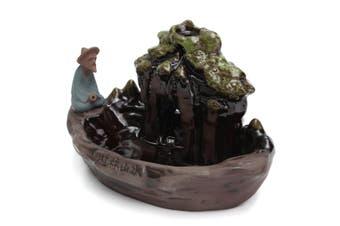 Ceramic Art Backflow Incense Burner Censer Home Office Furnace Decor Fragrant(incense burner)