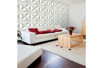 NEW 3D 12 Tiles Covering 32 sq/ft Wall Panel Diamond Design Paintable Home Decor(12 pcs)