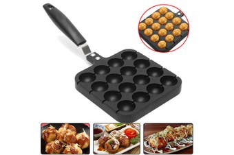 Home 16 Holes Cooking Baking Grill Mold Octopus Ball Maker Takoyaki Pan Plate