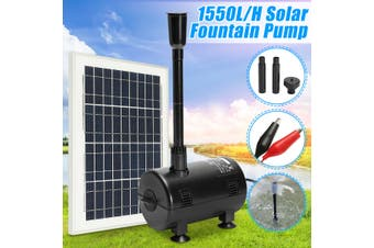 12V-24V DC Solar Powered Submersible Fountain Pond Brushless 1600L/H Water Pump