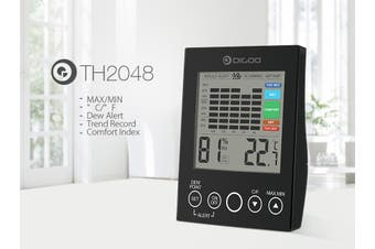 Indoor and outdoor temperature and humidity meter
