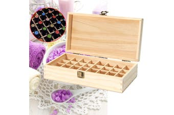 32 Slots Wooden Box Organizer Essential Oil Aromatherapy Container Case New(32 Slots 25X18x8cm)