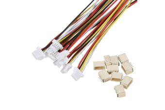 10 Sets Mini Micro 1.0mm SH4-Pin Connector Plug With Wires Cables 150mm Connectors