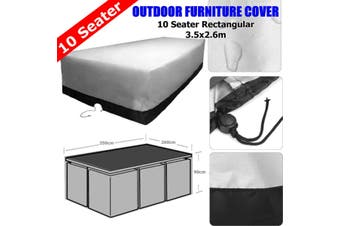Waterproof Outdoor 10 Seater Polyester Furniture Cover Dust Rain UV Protection