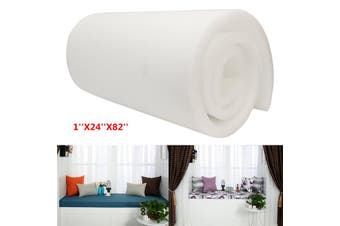 High Density Upholstery Foam Seat Cushion Replacement Sheet Pad 1''x24''x82''