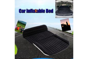 Universal Car Travel Inflatable Mattress Car Inflatable Bed Air Bed Cushion Outdoor Travel Beds Sofa with Inflatable Pump(black)