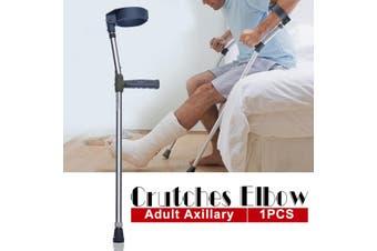 Adjustable Underarm Crutches Walking Stick Lightweight Aluminium Axillary Crutch