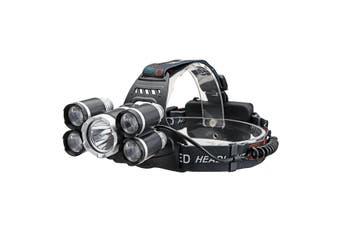 35000 Lumens 5x T6 LED Headlamp USB Rechargeable 18650 Headlight
