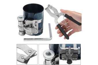 Engine Piston Ring Caliper Compressor + Ratchet Pliers Expander Remover Kit 53mm - 175mm Tool Installer