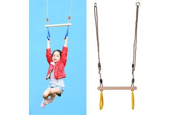 Children Kid Gymnastic Training Rings Fitness Swing Set Combo Trapeze
