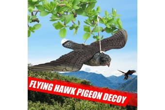Flying Bird Owl Hawk Decoy Weed Pest Control Repellent Garden Scarer Scarecrow