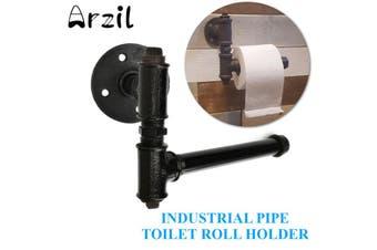 "8.3"" Industrial Retro Iron Toilet Roll Pipe Shelf Towel Brackets Shelving Holder"