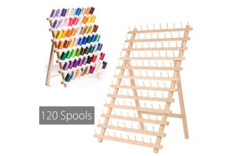 120 Spool Foldable Wood Sewing Thread Rack Storage Holder Stand Organizer Quilting Embroidery