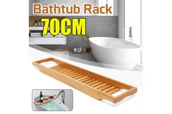 Wood Bathtub Rack Holder Bath Tub Caddies Shelf Phone Bottle Tray Holder Stand Storage Shelves 70x14.6x4.5cm