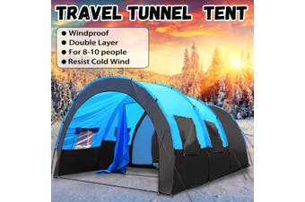 8-10 People Large Waterproof Travel Camping Hiking Double Layer Outdoor Tent